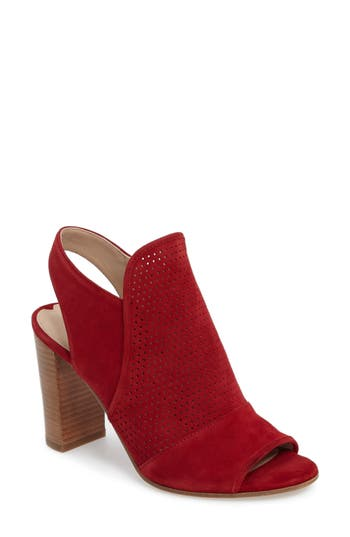 Via Spiga Gaze Block Heel Sandal, Red