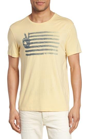 John Varvatos Star Usa Peace Flag Graphic T-Shirt, Yellow