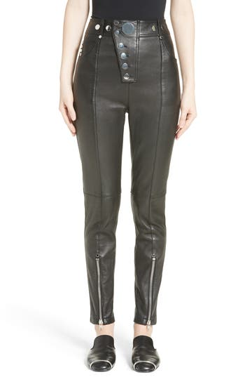 Women's Alexander Wang High Waist Leather Pants
