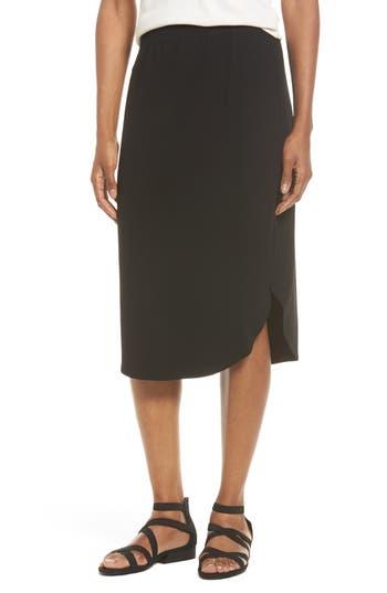 Eileen Fisher Jersey Shirttail Hem Skirt