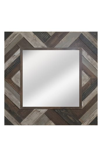 Crystal Art Gallery Square Wooden Wall Mirror, Size One Size - Brown