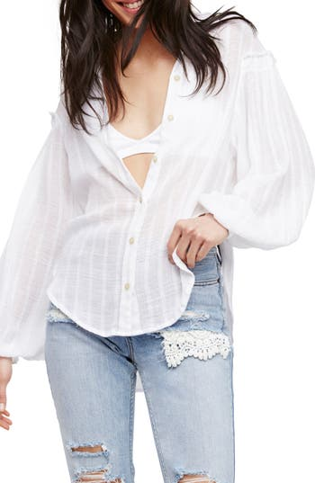 Free People Headed To The Highlands Blouse, White