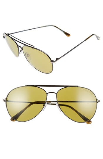 Women's Tom Ford Indiana 58Mm Barberini Lens Aviator Sunglasses -