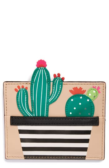 Women's Kate Spade New York Scenic Route Cactus Card Holder - Green