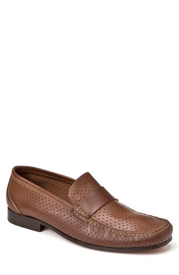 Sandro Moscoloni Alcazar Perforated Loafer - Brown