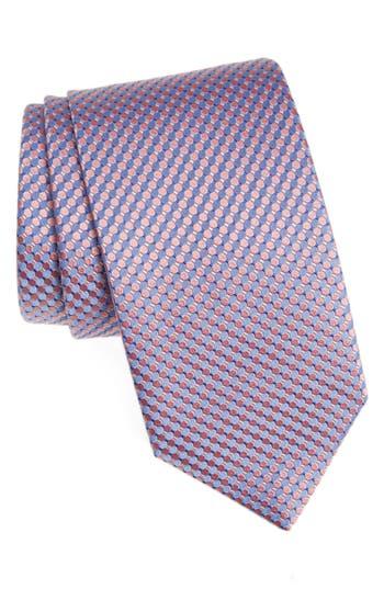 Men's Eton Geometric Silk Tie, Size Regular - Pink
