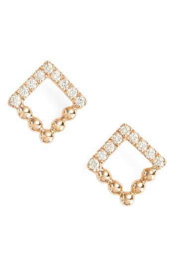 Women's Dana Rebecca Designs Poppy Rae Square Diamond Stud Earrings