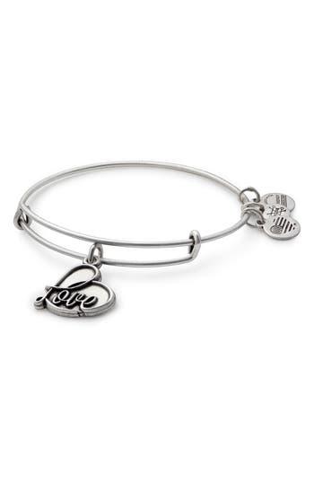 Alex and Ani Love Expandable Charm Bracelet