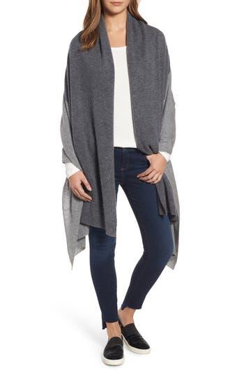 Women's Halogen Colorblock Cashmere Wrap, Size One Size - Grey