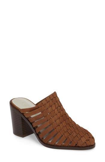 Women's 1.state Licha Woven Block Heel Mule, Size 5 M - Brown