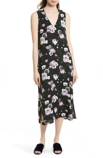 Women's Equipment Connery Floral Silk Midi Dress