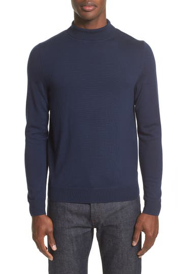A.p.c. Dundee Mock Neck Sweater, Blue
