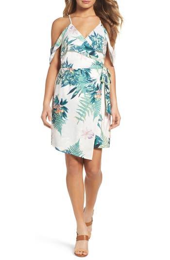 Women's Adelyn Rae Prescilla Cold Shoulder Wrap Dress, Size X-Small - White