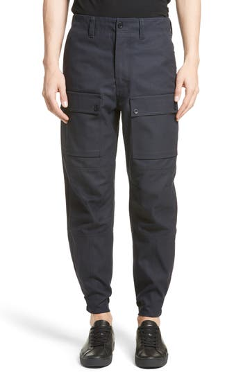Acne Studios Abbi Twill Cargo Pants, Blue