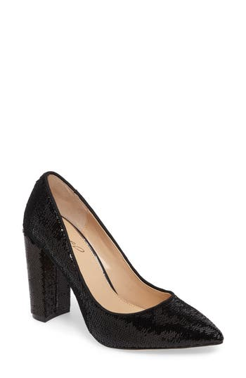 Jewel Badgley Mischka Luxury Pointy Toe Pump, Black