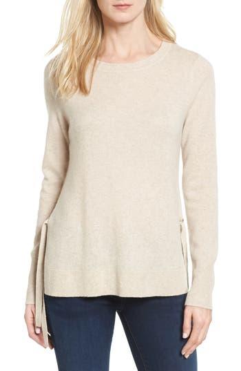 Petite Women's Halogen Side Tie Cashmere Sweater