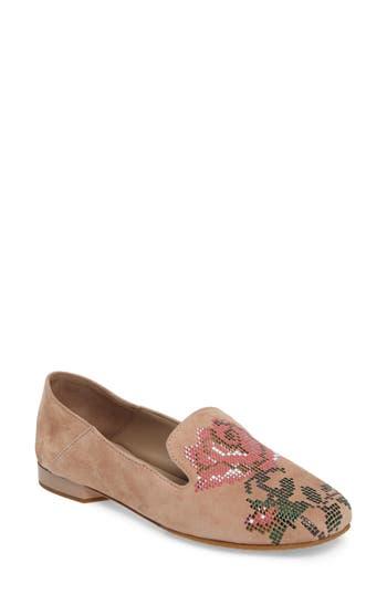 Donald J Pliner Hiro Embellished Loafer- Pink