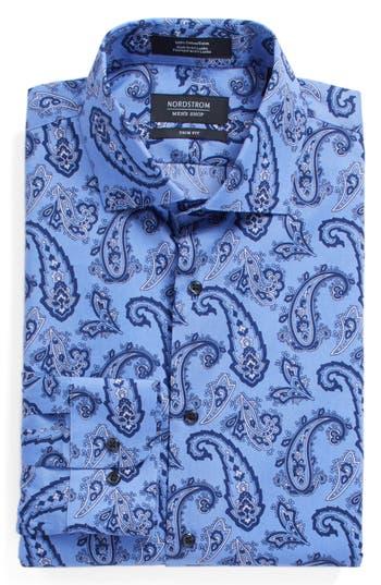 Men's Nordstrom Men's Shop Trim Fit Paisley Dress Shirt
