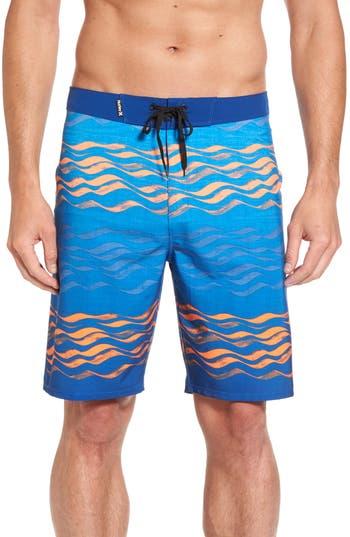 Hurley Phantom Currents Board Shorts, Blue