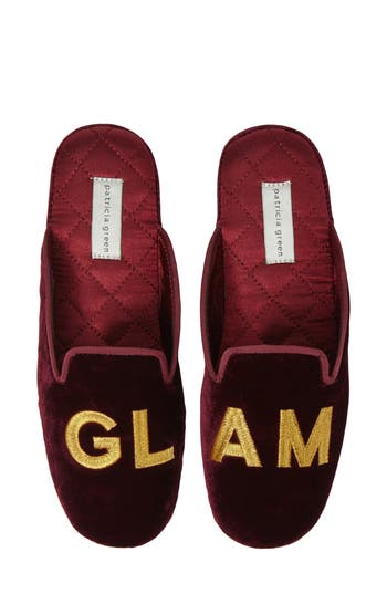 Patricia Green Glam Embroidered Mule, Burgundy