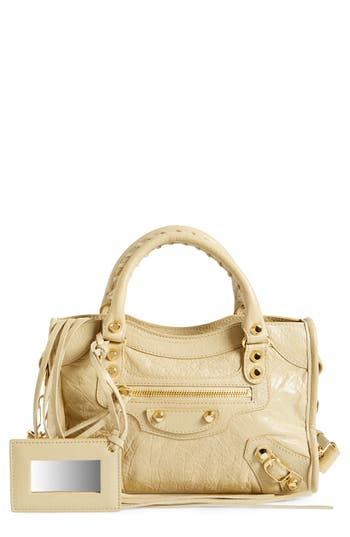 Balenciaga Classic Mini City Leather Satchel -