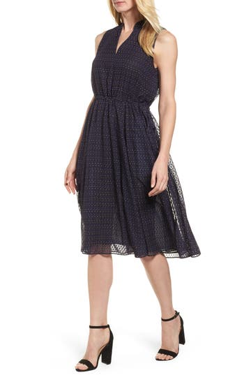 Anne Klein Print A-Line Dress