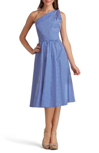 Eci One-Shoulder Dress, Blue