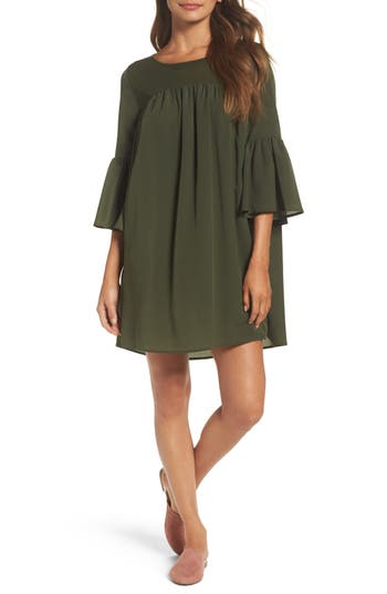 French Connection Polly Plains Shift Dress, Green