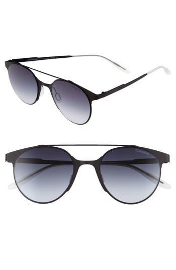 Carrera Eyewear 50Mm Gradient Round Sunglasses - Matte Black