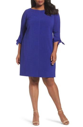 Plus Size Tahari Tie Sleeve Shift Dress