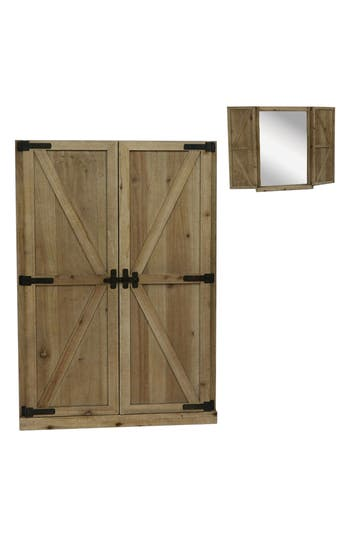 Crystal Art Gallery Barn Door Wall Mirror, Size One Size - Brown