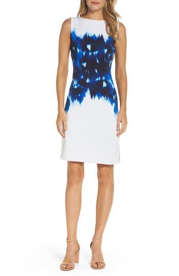 Maggy London Stretch Sheath Dress, Blue