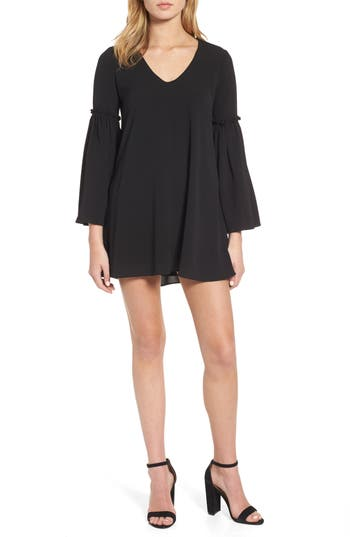 Chelsea28 Bell Sleeve Shift Dress, Black