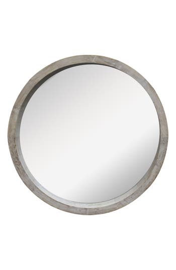 Crystal Art Gallery Round Farmhouse Mirror, Size One Size - Grey