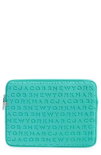 Marc Jacobs Logo Neoprene 13-Inch Computer Case - Green