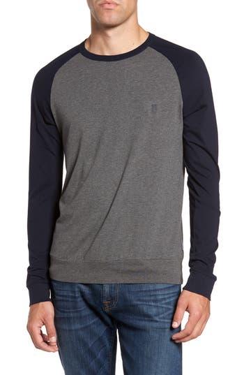 French Connection Classic Long Sleeve Raglan T-Shirt, Grey