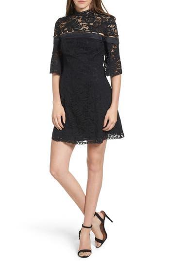 Keepsake The Label Star Crossed Lace Minidress, Black