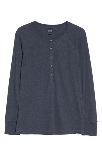 Patagonia Waffle Knit Henley, Blue