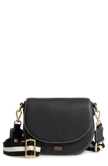 Frances Valentine Mini Ellen Leather Crossbody Bag - Black