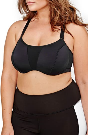 Nola Underwire Sports Bra - Black