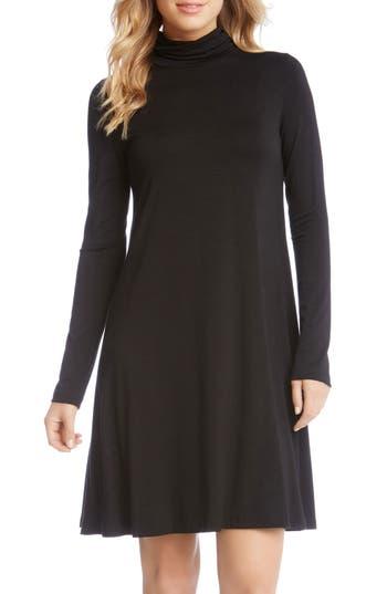 Women's Karen Kane Turtleneck A-Line Dress, Size X-Small - Black