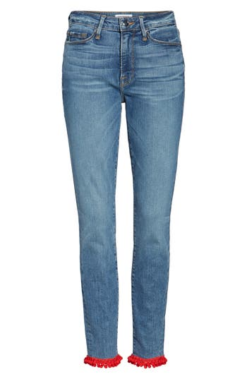 Good Legs High Waist Pom Jeans