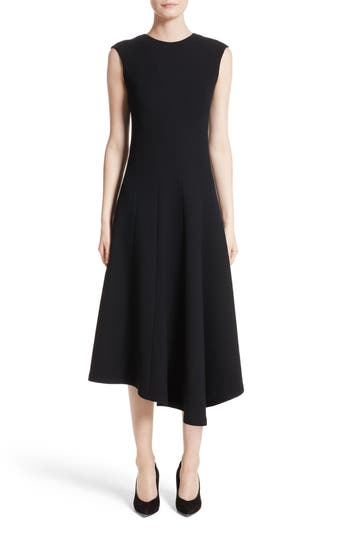 Lafayette 148 New York Aveena Wool Interlock Dress, Black