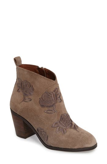 Lucky Brand Pexton Embroidered Bootie, Grey