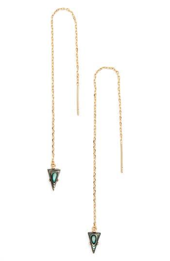 Women's Jules Smith Triangle Gem Threader Earrings