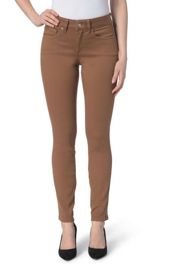 Nydj Ami Colored Stretch Skinny Jeans, Brown