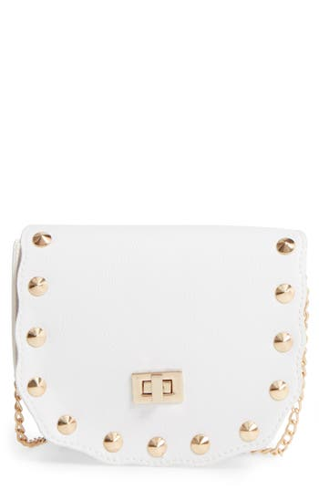 Girl's Capelli Of New York Faux Leather Shoulder Bag - White