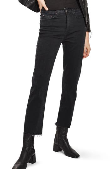 Women's Topshop Raw Hem Straight Leg Jeans at NORDSTROM.com