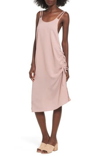 The Fifth Label The Future Dream Ruched Slipdress, Pink