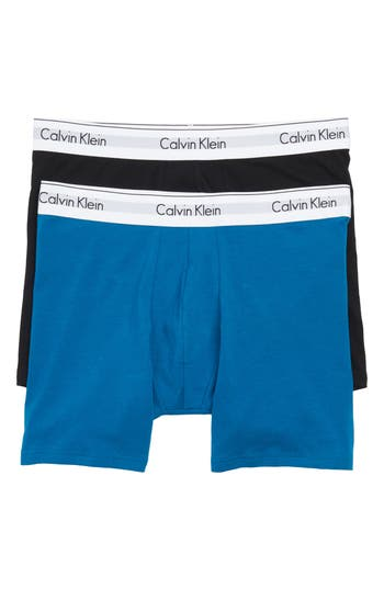 Men's Calvin Klein Modern Assorted 2-Pack Stretch Cotton Boxer Briefs